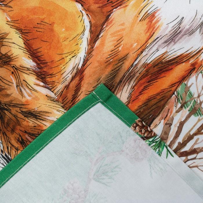 Полотенце «Лиса» ТМ «Этель: Новогодний лес», 40 × 67 см, 100 % хлопок, саржа, 190 г/м²