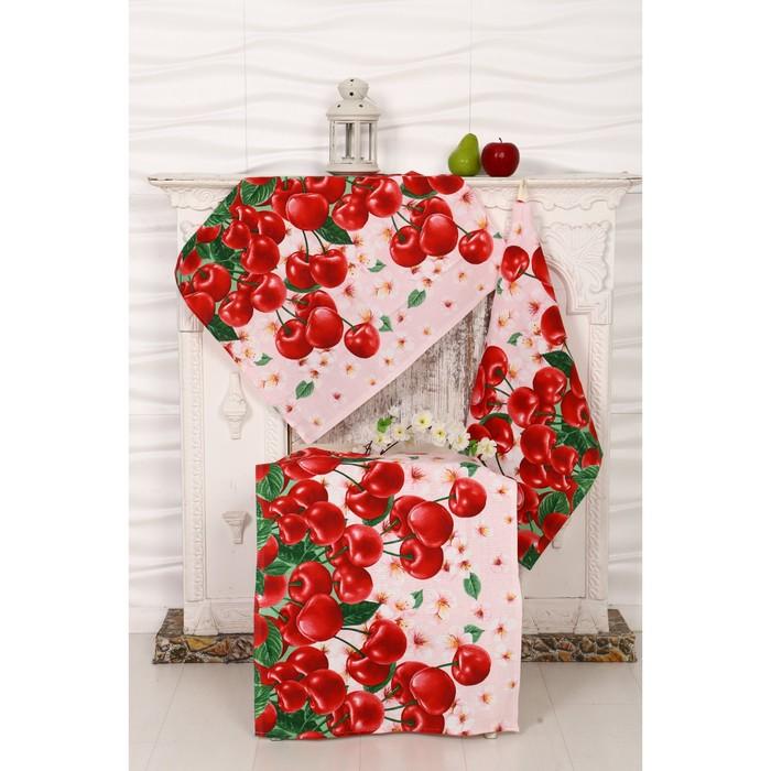 Набор полотенец вафельных Черешня 50х60 см 3 шт