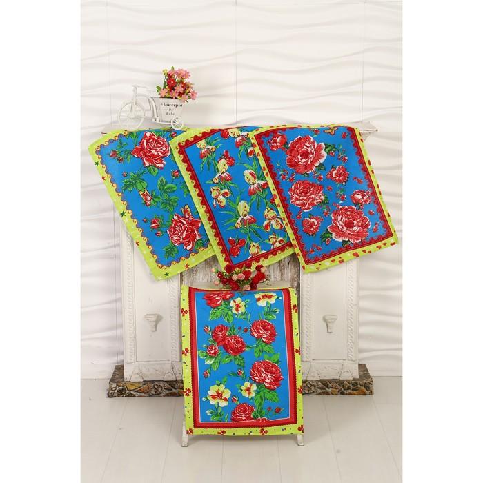 """Набор вафельных полотенец DomoVita """"Роза""""зеленый 40х60 см (в пакете),170 г/м2,100% хл"""