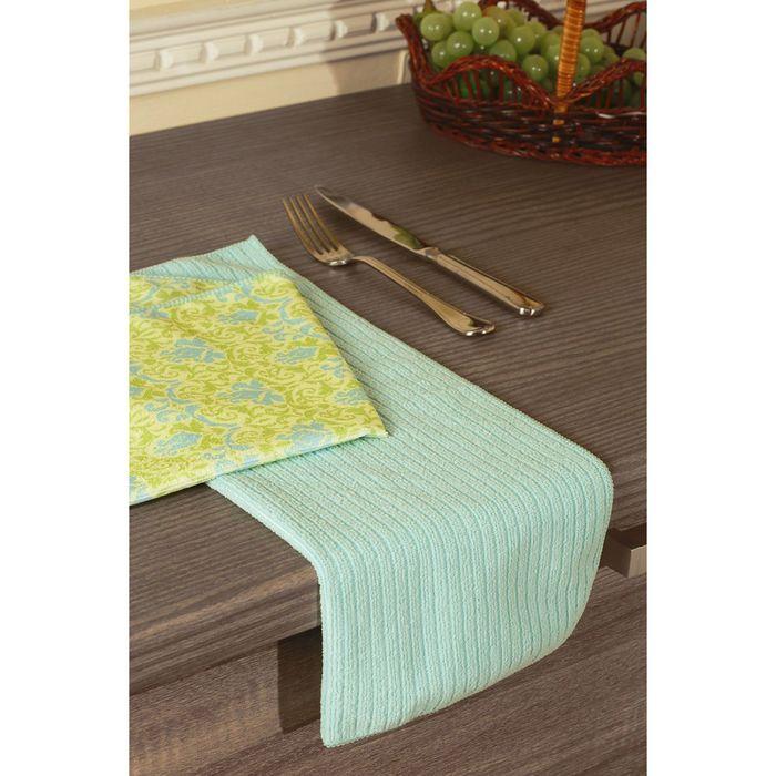 Набор полотенец, размер 40 × 50 см - 2 шт, бирюзовый