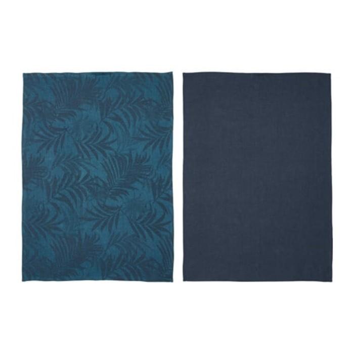 Полотенце кухонное ВИЛДКАПРИФОЛ, размер 50 × 70 см - 2 шт, синий