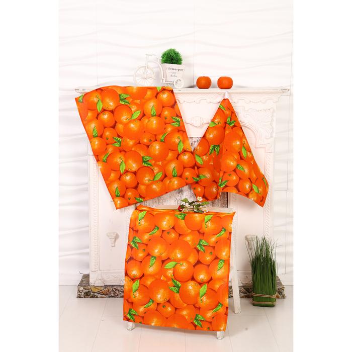 Полотенце Апельсин МИКС 45х60 см, рогожка