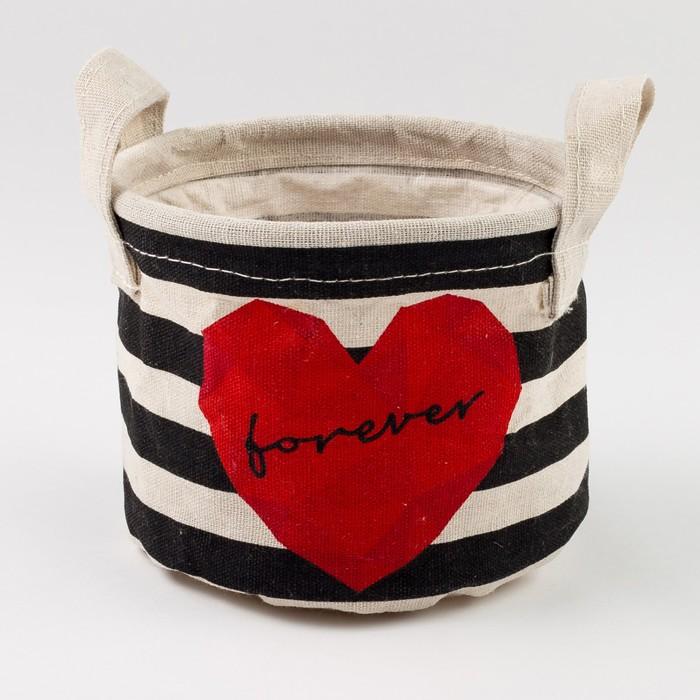 "Текстильная корзинка ""Forever"" 14х12см"