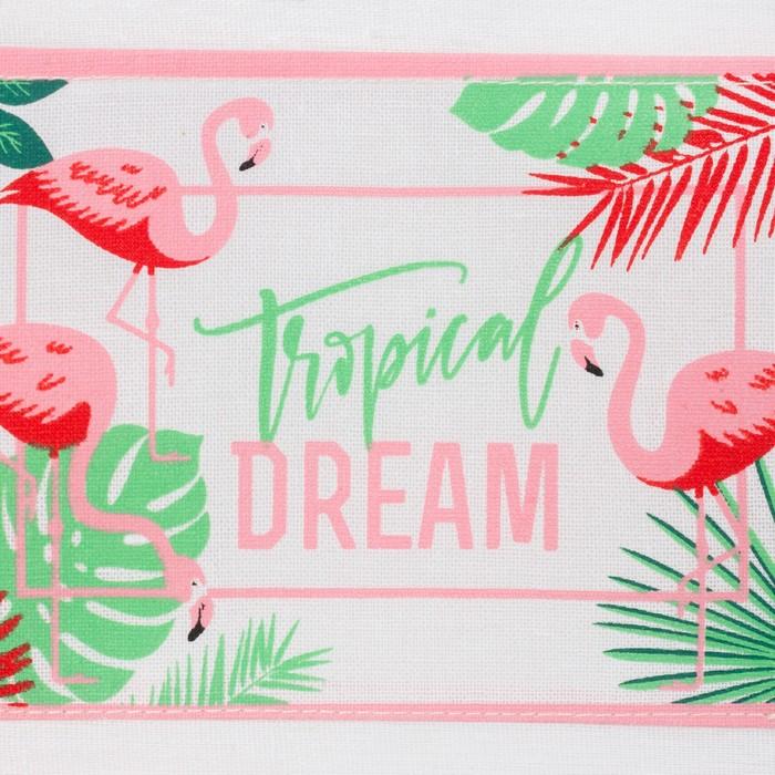 """Кармашек текстильный """"Tropical Dream"""" 3 отделения, 20х56 см"""
