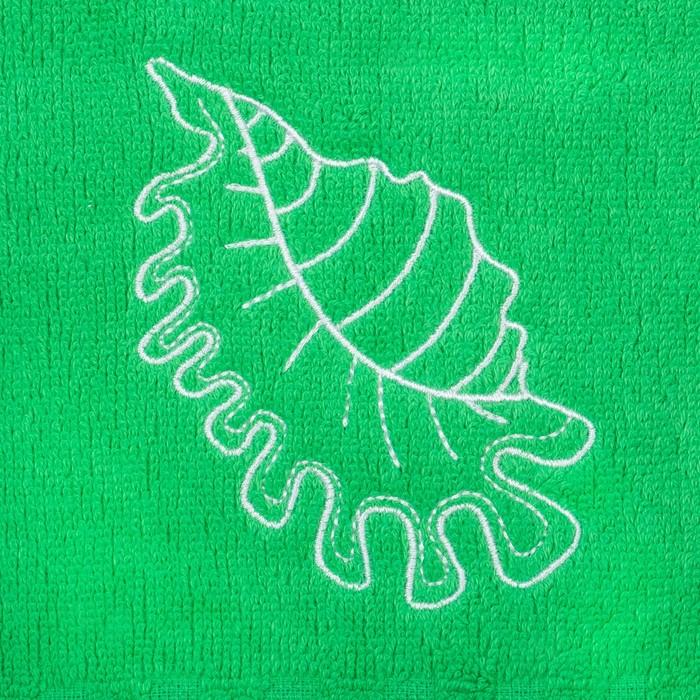 """Полотенце Collorista """"Ракушка"""" однотонное, цв. зелёный, 50*90 см, 400 гр/м2, хл 100%"""