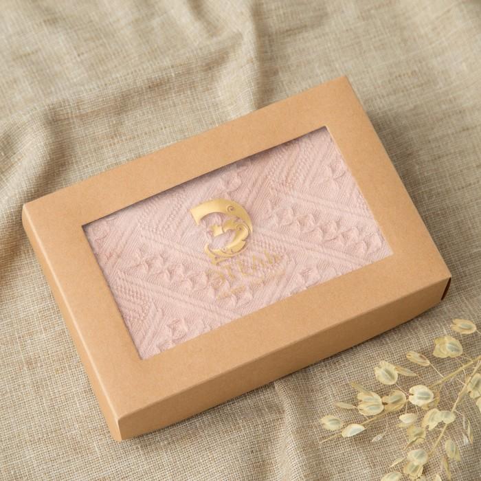 Полотенце Этель «Индия» цвет пудра, 30×70 см, 380 г/м², 100% хл