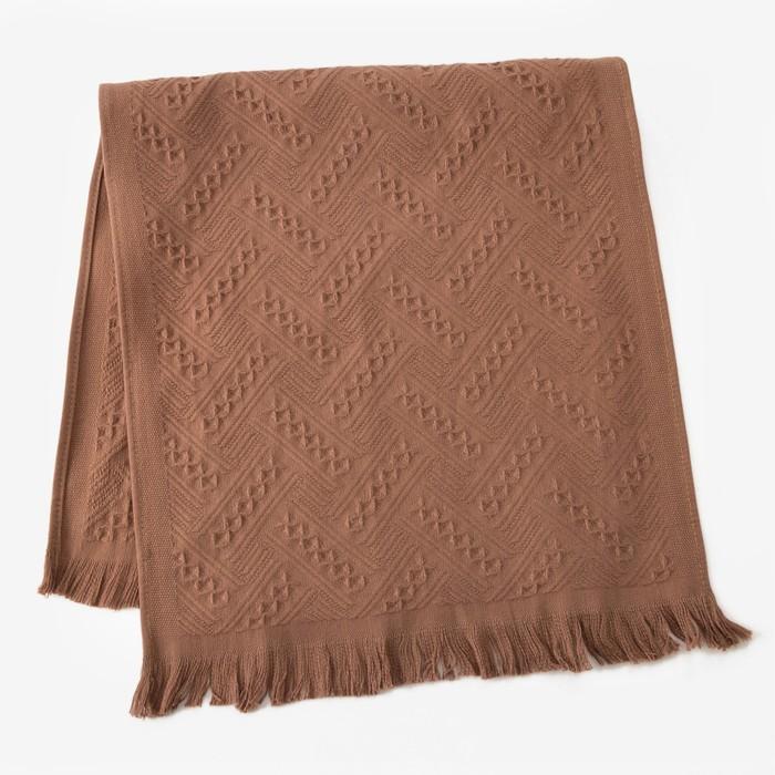 Полотенце Этель «Индия» цвет кофейный, 30×70 см, 380 г/м², 100% хл