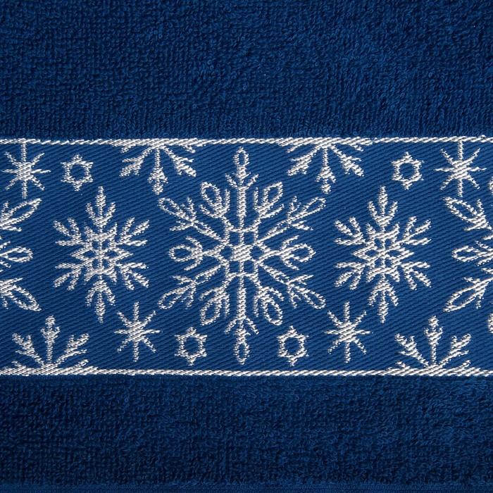 """Полотенце махровое """"Снежинки ажурные"""" 30х70 см 100% хлопок, 370гр/м2"""