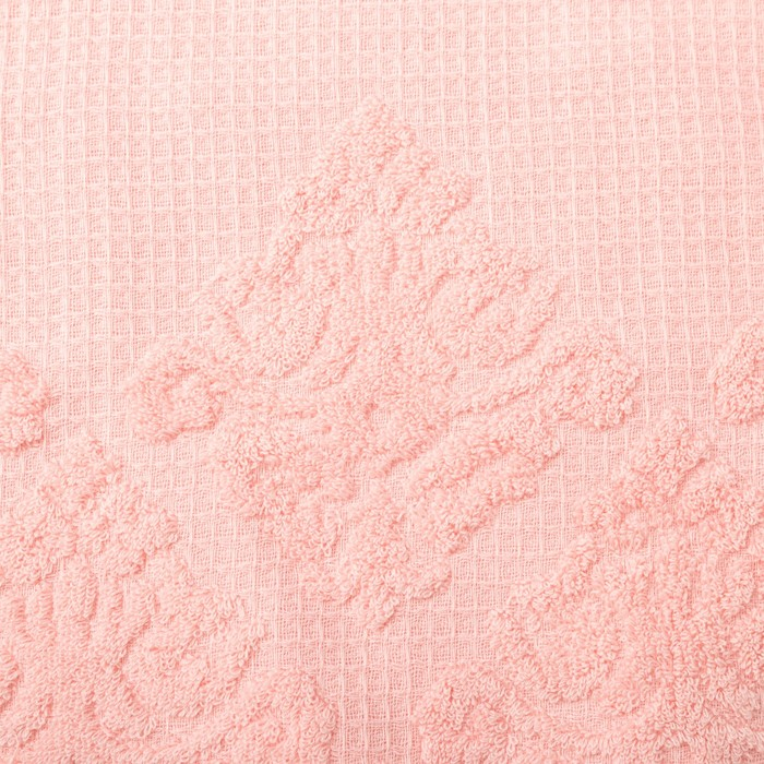 Полотенце двухстороннее Этель «Вензеля» цвет розовый, 30×70 см, 380 г/м², 100% хл
