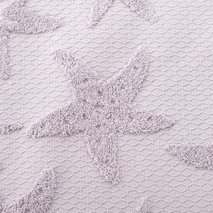 Полотенце двухстороннее Этель «Звезда» цвет серый, 30×70 см, 380 г/м², 100% хл