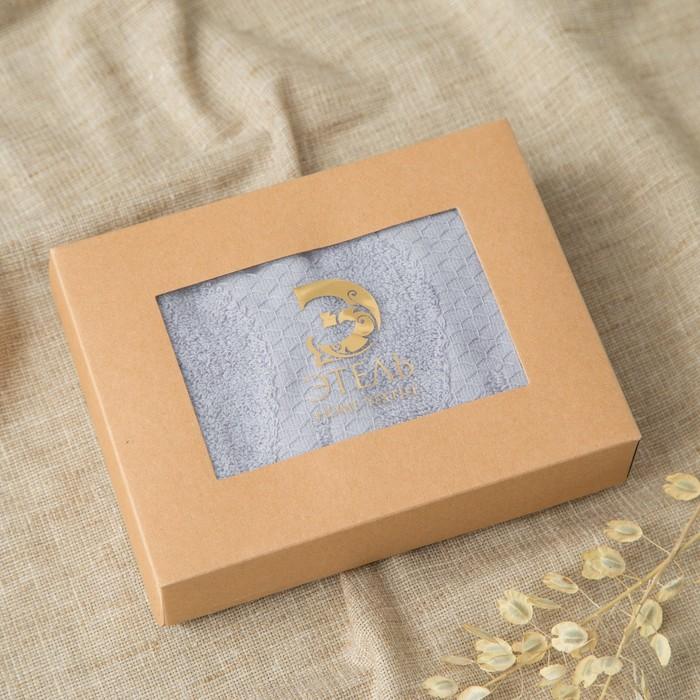 Полотенце двухстороннее Этель «Листья» цвет серый, 30×70 см, 380 г/м², 100% хл