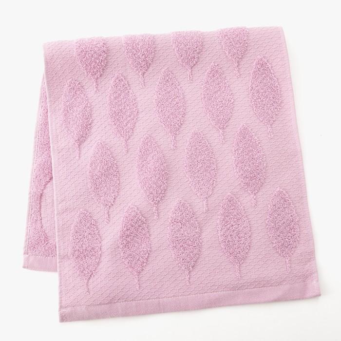 Полотенце двухстороннее Этель «Листья» цвет фиолетовый, 30×70 см, 380 г/м², 100% хл