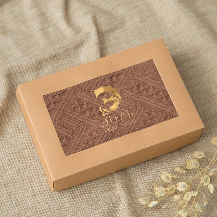 Полотенце Этель «Индия» цвет кофейный, 70×140 см, 380 г/м², 100% хл