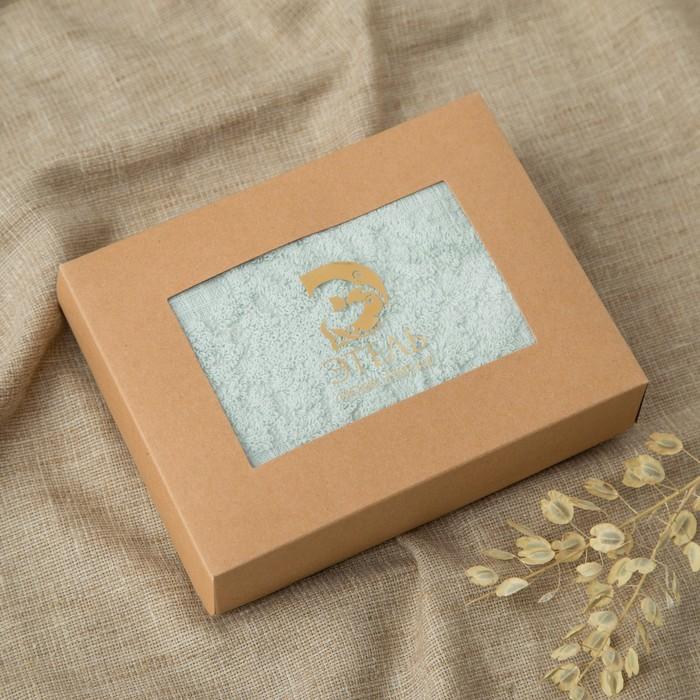 Полотенце двухстороннее Этель «Вензеля» цвет бирюза, 70×140 см, 380 г/м², 100% хл