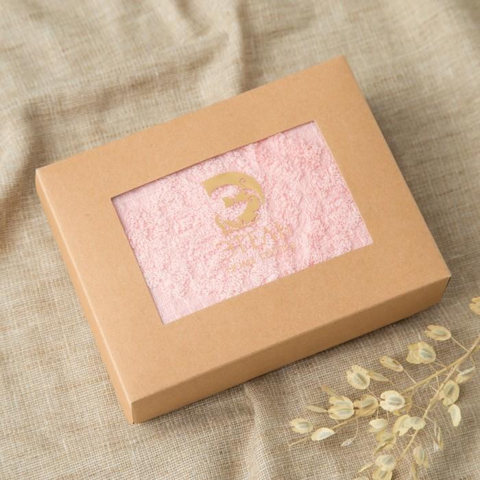 Полотенце двухстороннее Этель «Вензеля» цвет розовый, 70×140 см, 380 г/м², 100% хл