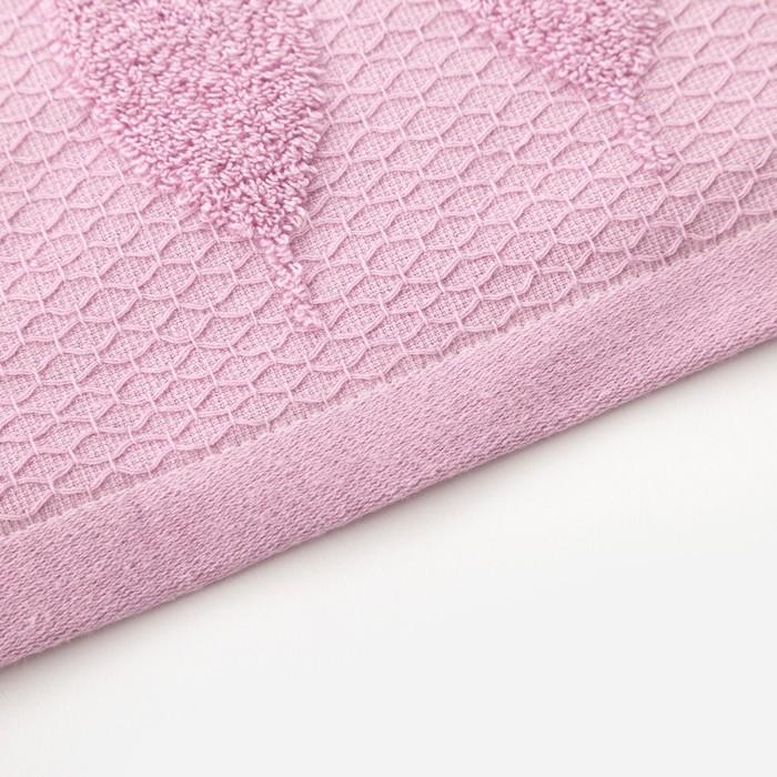 Полотенце двухстороннее Этель «Листья» цвет фиолетовый, 70×140 см, 380 г/м², 100% хл