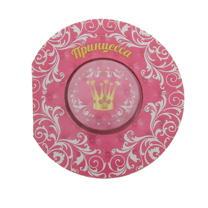 """Прессованное полотенце на открытке """"Collorista"""" Принцесса 28х28 см, хлопок"""