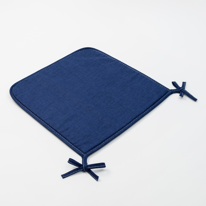 Подушка на стул «Этель» Сиеста 40х40, с завязками рогожка 160 г/м², 100% хлопок