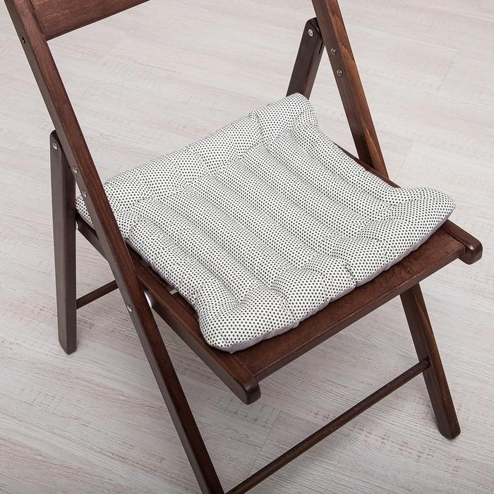 Эко-Подушка с массажным эффектом на стул 40*40 лузга гречихи, грета/бязь