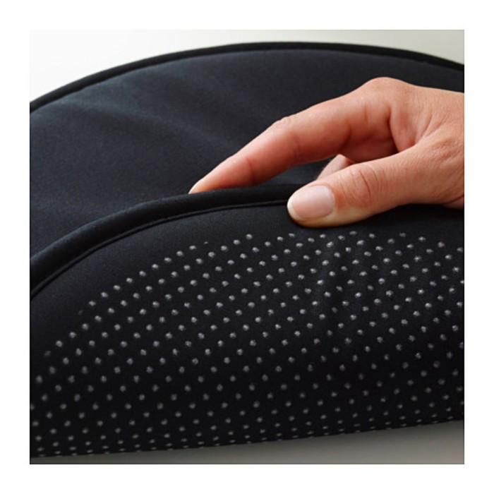 Подушка на стул ЦИЛЛА, диаметр 34 см, цвет чёрный