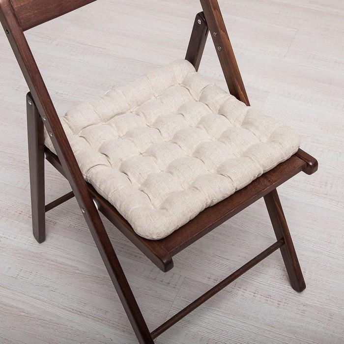БИО-подушка на стул 40*40 лузга гречихи, лен