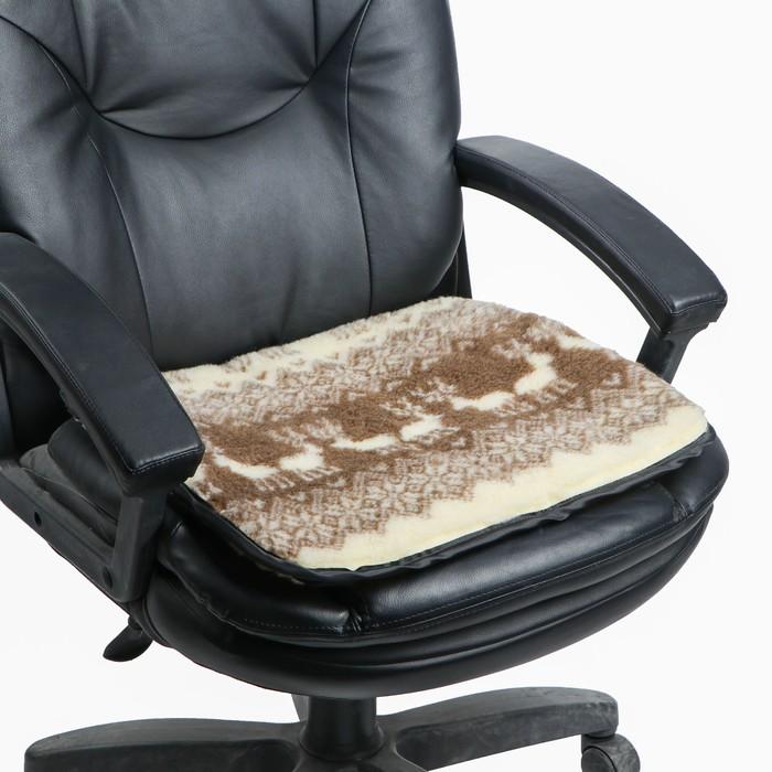 Накидка на сиденье двухсторонняя, тип 5, овчина 65%, 50 х 50 см
