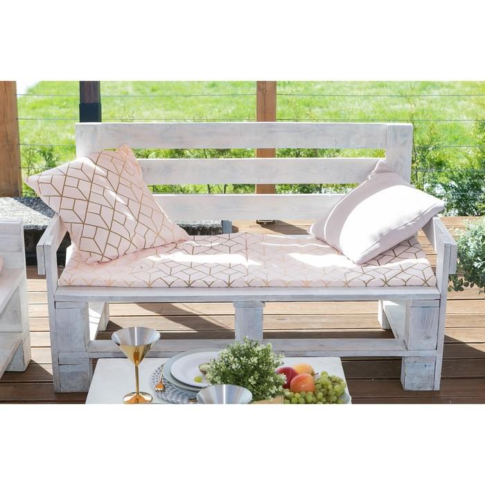 Подушка на трехместную скамейку «Этель» Сетка, 45×150 см, репс с пропиткой ВМГО, 100% хлопок