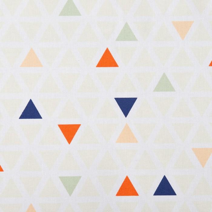 Подушка на трехместную скамейку «Этель» Треугольники, 45×150 см, репс с пропиткой ВМГО, 100% хл