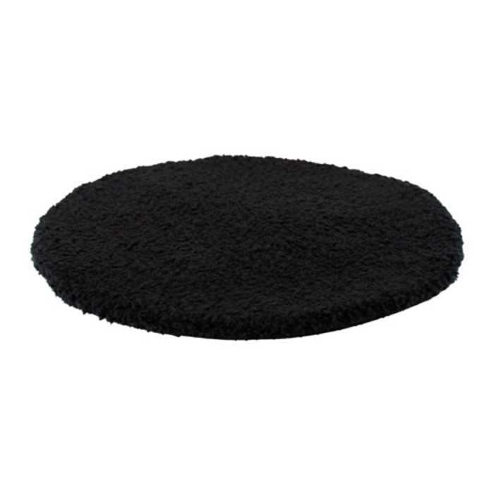 Подушка на стул БЕРТИЛЬ, диаметр 33 см, цвет чёрный