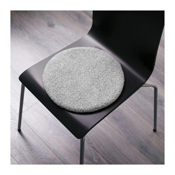 Подушка на стул, цвет серый БЕРТИЛЬ