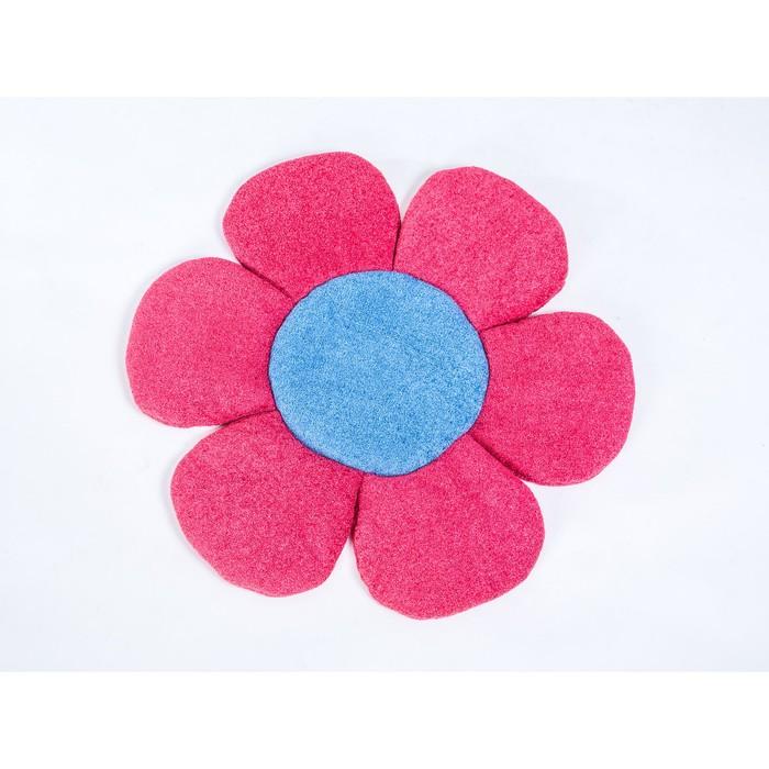 Подушка декоративная «Цветочек», размер 61 × 61 см, махра/микрофибра