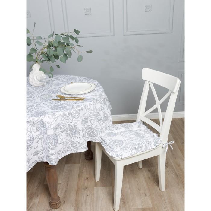 Подушка на стул с рюшей «Белое золото», размер 42 × 42 см