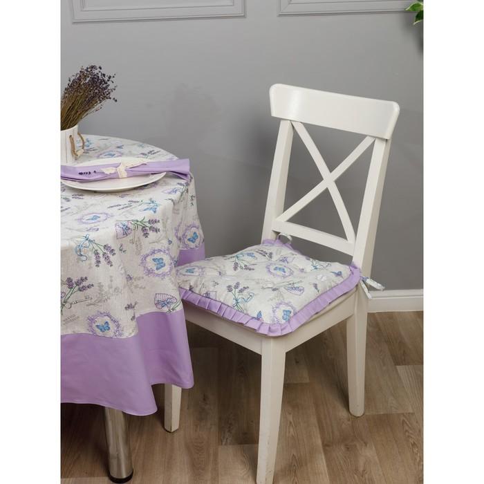 Подушка на стул трапеция с рюшами, размер 42 ×  42 см