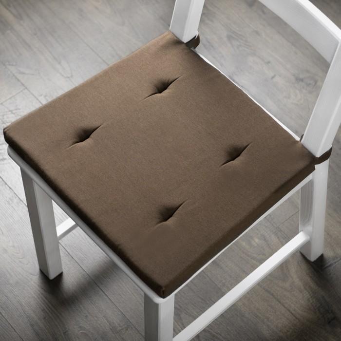 Комплект подушек для стула «Билли», размер 37 × 42 × 3 см - 2 шт, коричневый