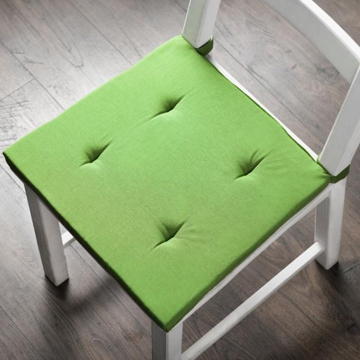 Комплект подушек для стула «Билли», размер 37 × 42 × 3 см - 2 шт, зелёный