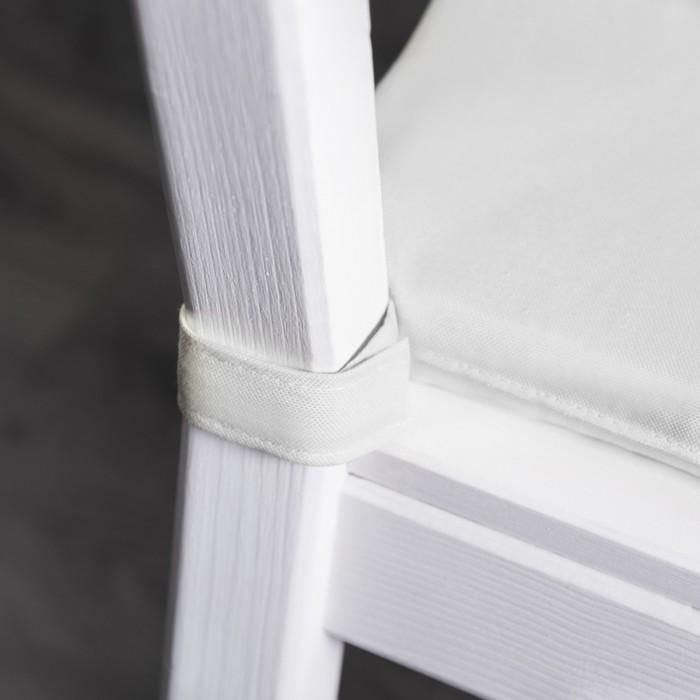 Комплект подушек для стула «Билли», размер 37 × 42 × 3 см - 2 шт, белый