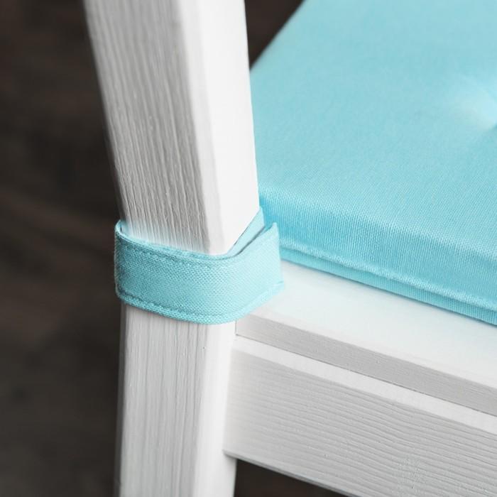 Комплект подушек для стула «Билли», размер 37 × 42 × 3 см - 2 шт, небесно-голубой