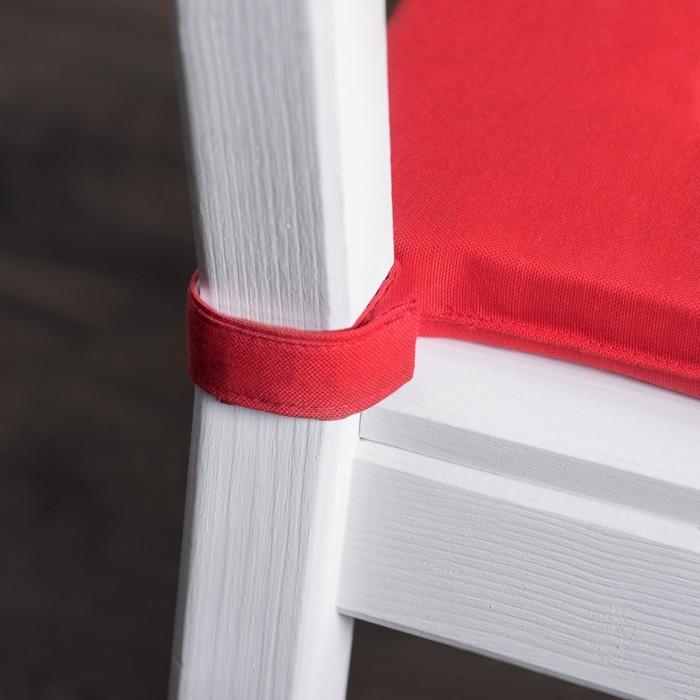 Комплект подушек для стула «Билли», размер 37 × 42 × 3 см - 2 шт, красный