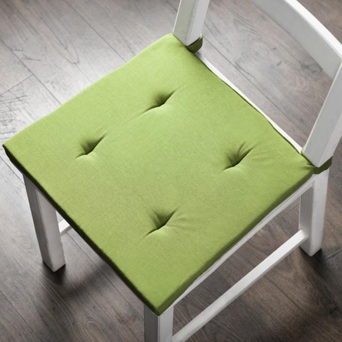 Комплект подушек для стула «Билли», размер 37 × 42 × 3 см - 2 шт, травяной