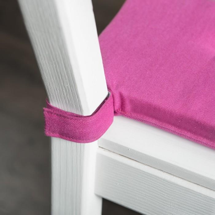 Комплект подушек для стула «Билли», размер 37 × 42 × 3 см - 2 шт, фуксия
