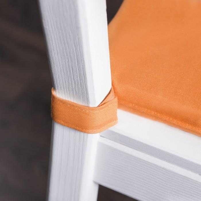 Комплект подушек для стула «Билли», размер 37 × 42 × 3 см - 2 шт, оранжевый