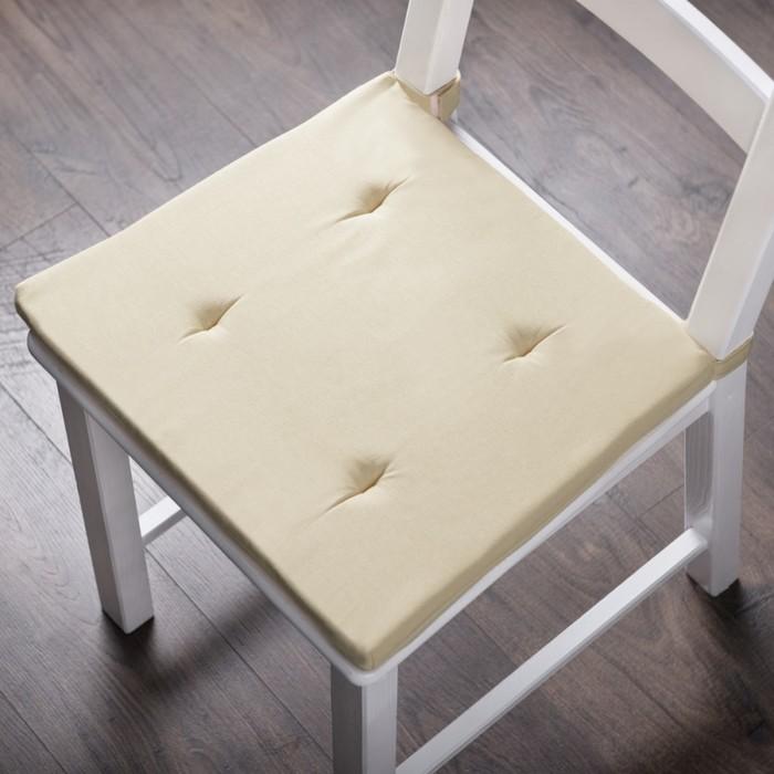Комплект подушек для стула «Билли», размер 37 × 42 × 3 см - 2 шт, кремовый