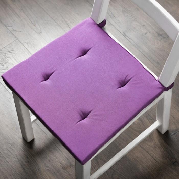 Комплект подушек для стула «Билли», размер 37 × 42 × 3 см - 2 шт, фиолетовый