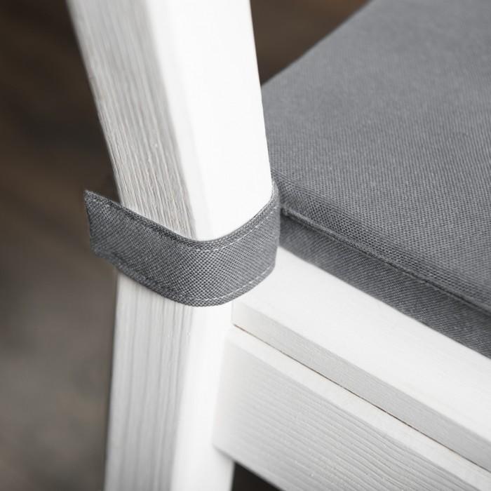 Комплект подушек для стула «Билли», размер 37 × 42 × 3 см - 2 шт, серый