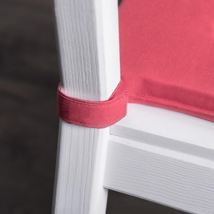 Комплект подушек для стула «Билли», размер 37 × 42 × 3 см - 2 шт, малиновый