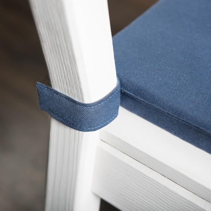 Комплект подушек для стула «Билли», размер 37 × 42 × 3 см - 2 шт, синий