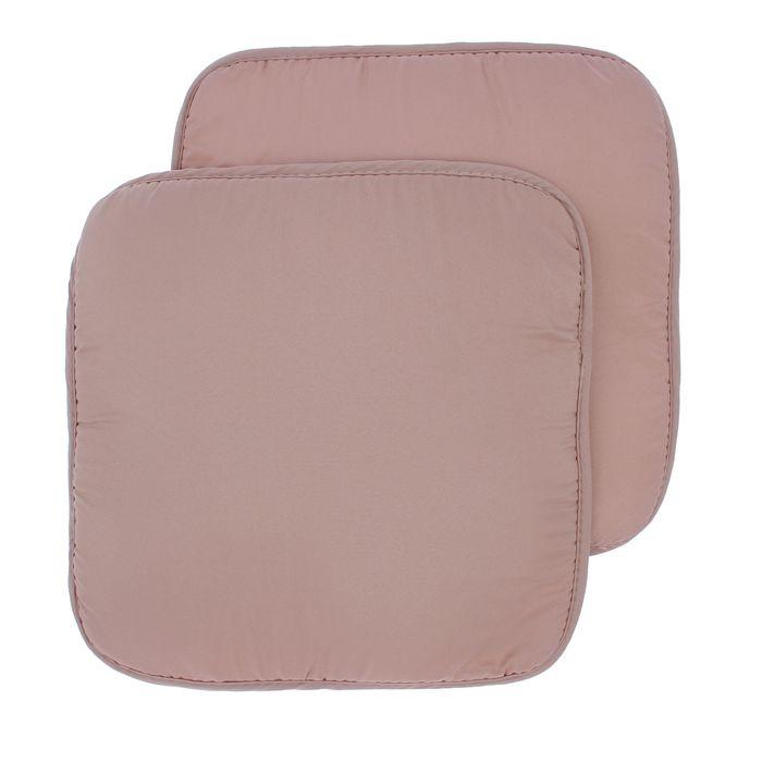 Набор подушек на стул - 2 шт., размер 34х34 см +- 2 см, цвет бежевый