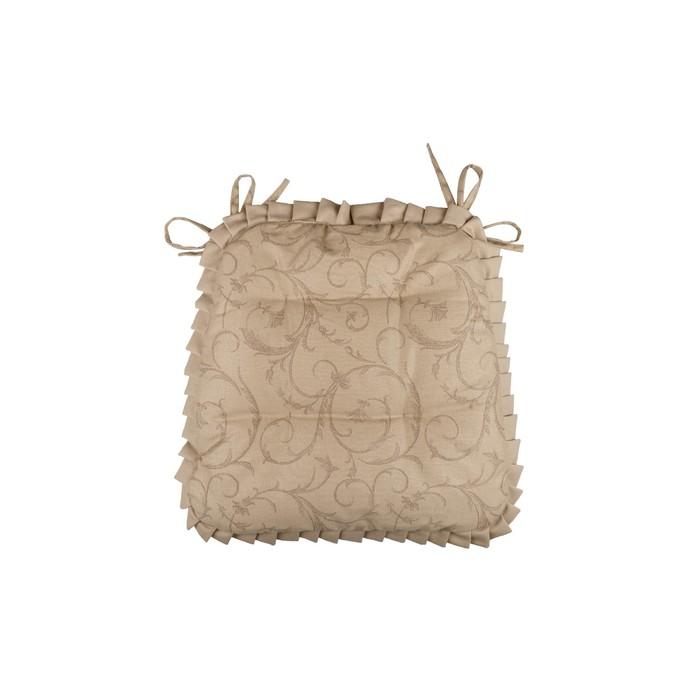 Набор подушек на стул Curls, размер 42 × 42 см - 2 шт, с рюшами