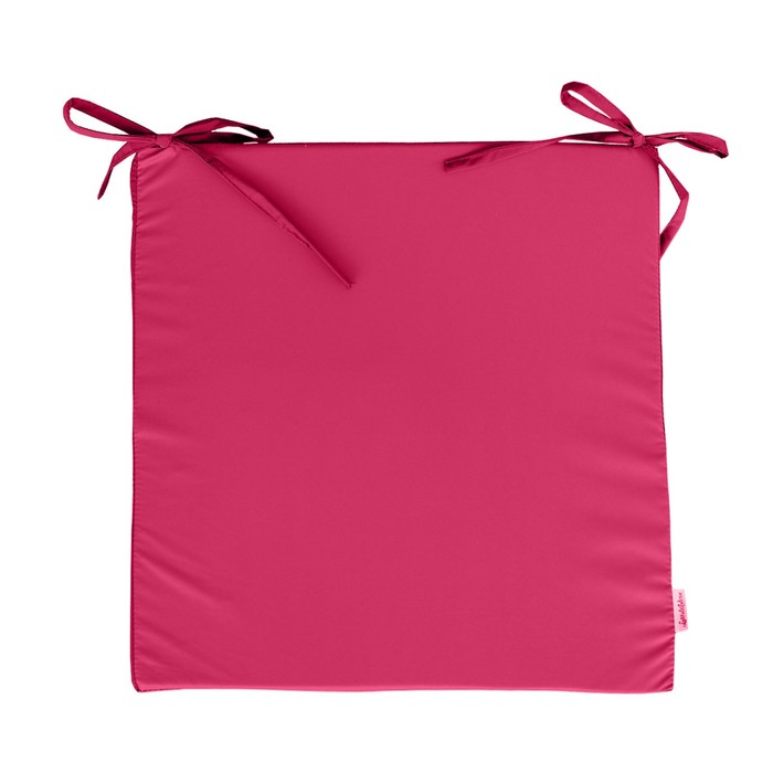 Сидушка на стул, размер 50х50 см, розовый