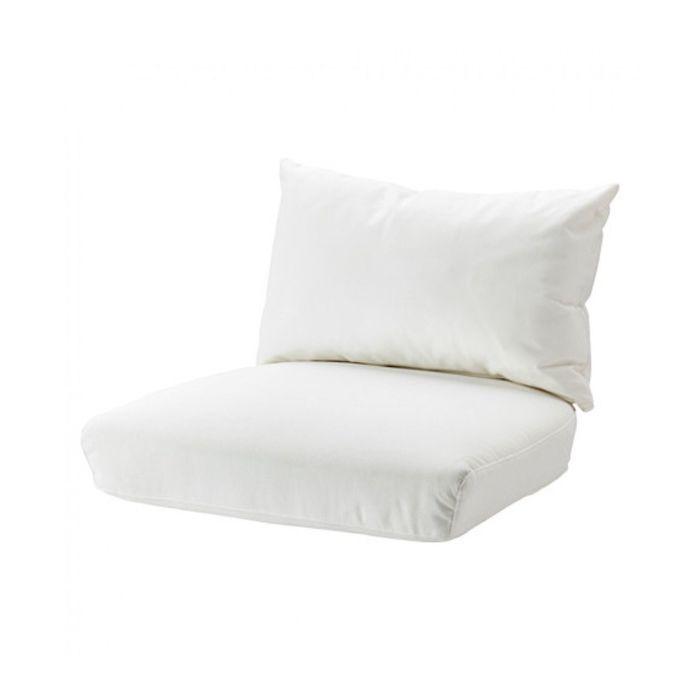 Комплект подушек-сидений на кресло, Рёстонга белый СТОКГОЛЬМ 2017